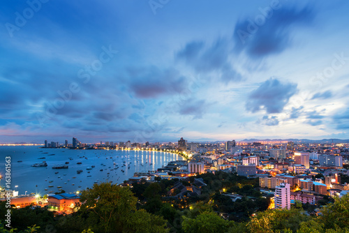 Scenic view of Pattaya city in Thailand
