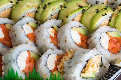 Sushi Roll Closeup Macro