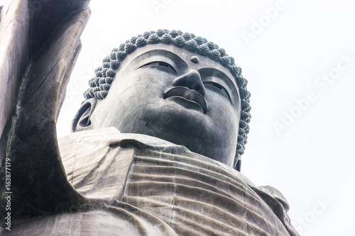 Close-up view of the Great Buddha of Ushiku, Japan Poster