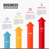 Growth arrow with profit concept. Infographic template. Vector illustration. - 163879706