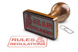 Rules and Regulations Over White Background - 163880584