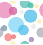 Colorful Circles Seamless Geometric Pattern