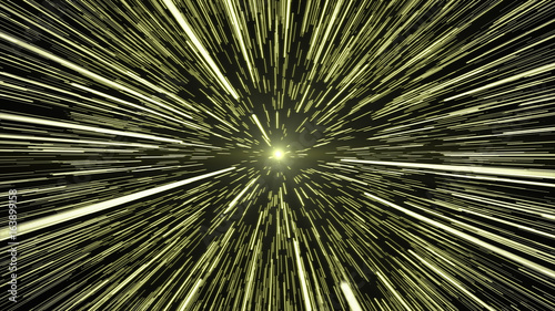 Gold Light Hyperspace