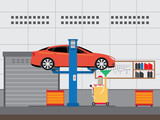 changing oil into a car