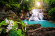Waterfall in Thailand, called Huay or Huai mae khamin in Kanchanaburi Provience - 163905997