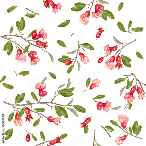 Pomegranate flower pattern
