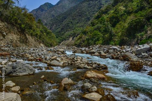 peru inca trail salkantay river