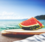 water mellon and sea