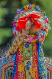 Detail of Polish folk costume for woman - 163923141