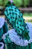 Detail of Spanish folk costume for women - 163923171