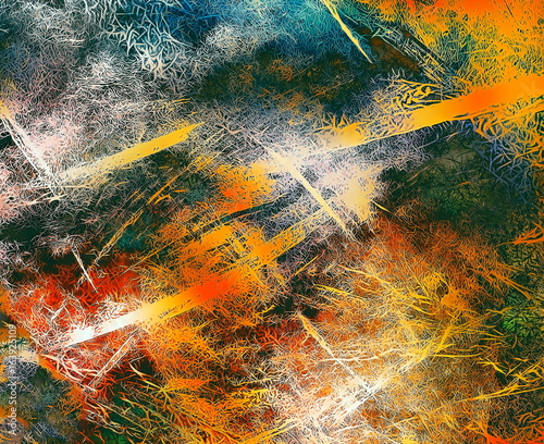 abstract background with filigrane fractal structure, expressional fine art graphic