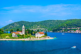 Vis island Croatia. / Aerial view on Vis island landscape, summertime in southern Croatia, Europe.