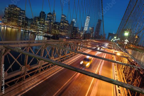 Foto op Canvas New York TAXI New York City skyline