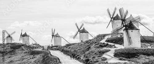 The road near windmills