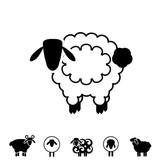 Sheep or Ram Icon, Logo, Template, Pictogram - 163952334