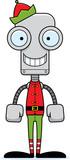 Cartoon Smiling Xmas Elf Robot Wall Sticker