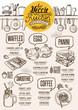 Vegan menu restaurant, food template. - 163974349