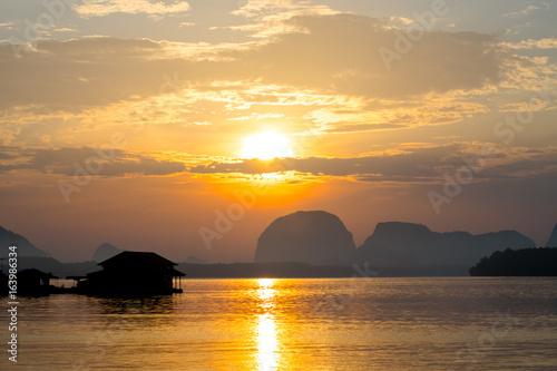 Beatiful sun rise landscape