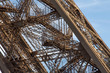 Stairs of the Eiffel Tower in Paris. France. The Eiffel Tower was constructed from 1887-1889 as the entrance to the 1889 World's Fair by engineer Gustave Eiffel.