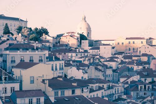 Lisbon panoramic city view