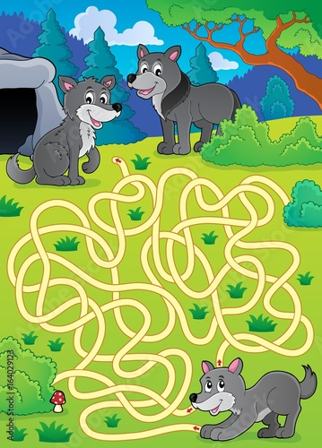 Maze 29 with wolves