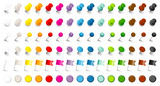 Fototapety 6 Different Pins, Needles, Flags & Magnets 15 Colors Set