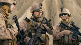 Shot of Fully Equipped Group of Soldiers Planning Their Actions Before Military Operation in the Desert. - 164038503