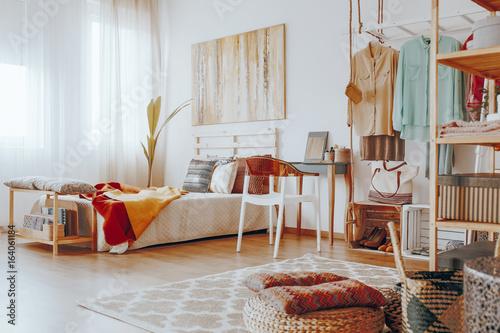 Stylish boho bedroom - 164061184