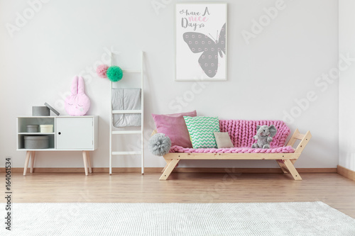 Sofa in kid room