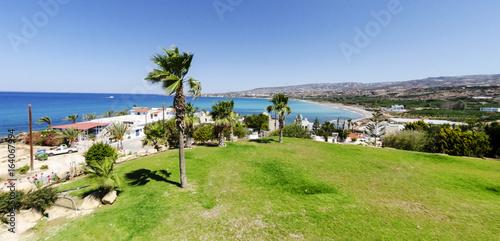 Plexiglas Cyprus A view on Coral bay in Paphos, Cyprus