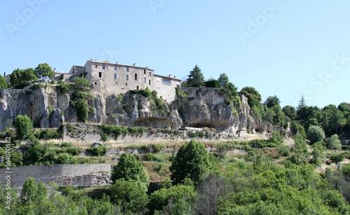 Plexiglas Lavendel Le village perché de Sault en Provence dans le Vaucluse