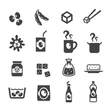 Product Of Soybean Icon Sticker