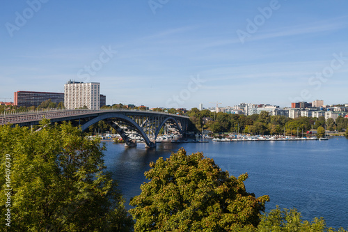 Aluminium Stockholm Modern car bridge in Stockholm, Sweden