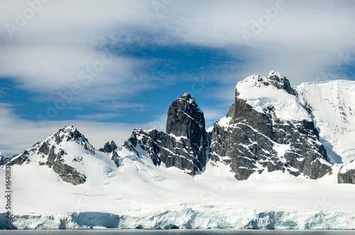 Spoed canvasdoek 2cm dik Antarctica Landscape photography along the Antarctic Peninsula.