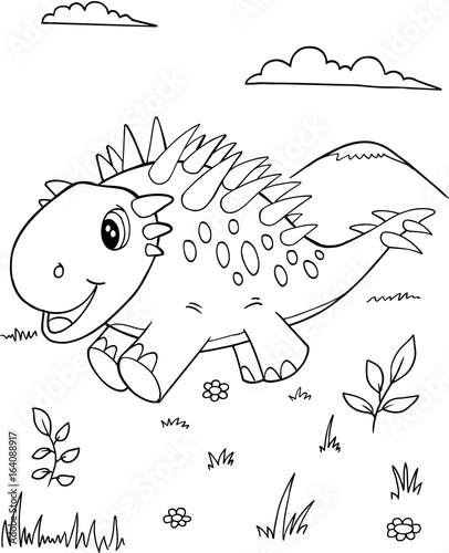 Cute Dinosaur Vector Illustration Art