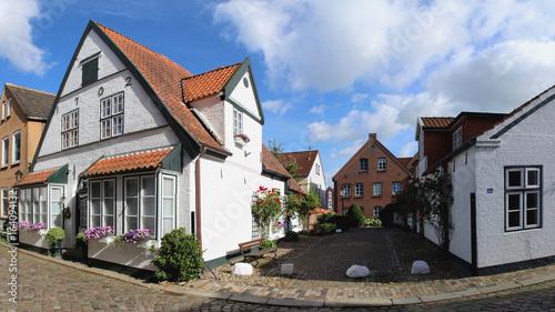 Husum Schleswig-Holstein - historische Gasse Wasserreihe