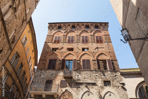 Old houses in Siena, Italy