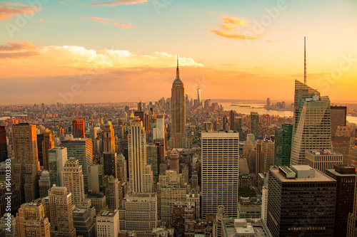 Foto op Aluminium New York New York City skyline, Lower Manhattan