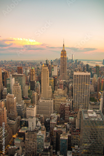 Foto op Aluminium New York New York City skyline, Lower Manhattan