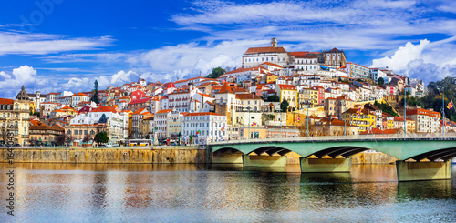 Fotobehang Freesurf landmarks of Portugal - beautiful Coimbra town