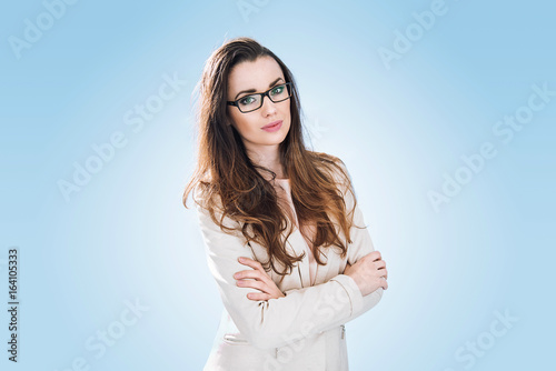 Pretty, young and elegant businessman