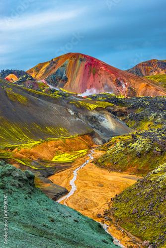 Panel Szklany Beautiful colorful volcanic mountains Landmannalaugar in Iceland