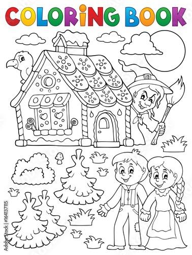 Coloring book Hansel and Gretel 1