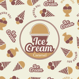 Ice cream retro seamless pattern. - 164145538