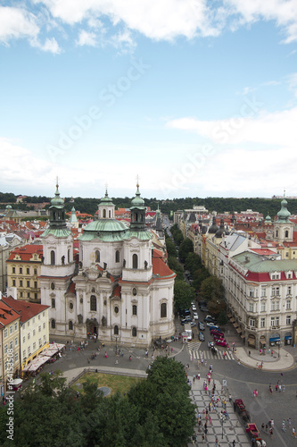 Prag-Altstädter Ring im Historischen Stadtzentrum der goldenen Stadt Poster