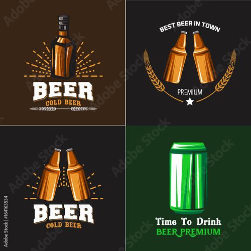 beer vector set