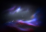 Outer space and galaxy, cosmos panorama