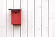 Red bird nesting box