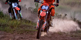 Details of debris in a motocross race