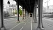 Bir-Hakeim Bridge Inception, Quai de Grenelle Paris, France Passy steel bridge over the River Seine